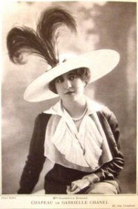 Gabrielle Dorziat with Chanel hat