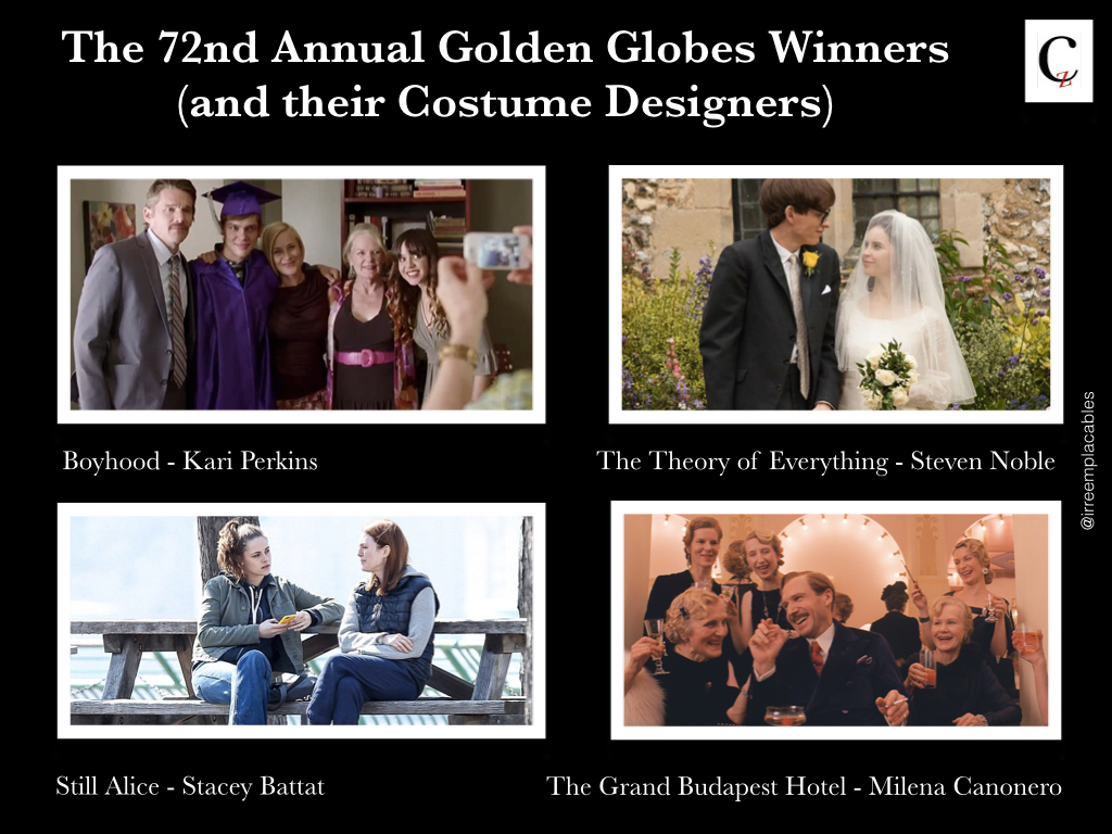 Costume Designer Behind The 72nd Annual Golden Globes Winners Art Culture Fashion Feminism Society