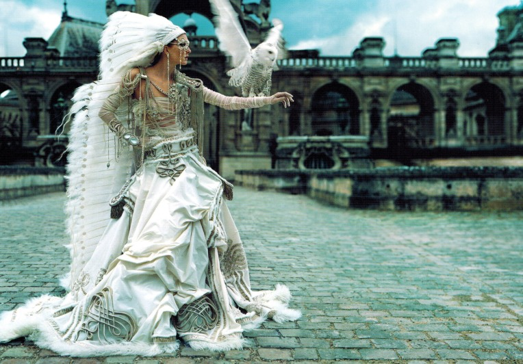 La Mariee Wedding Gown by Jean Paul Gaultier. This wedding dress was made for the Fall/Winter The Hussars Collection 2002-2003.