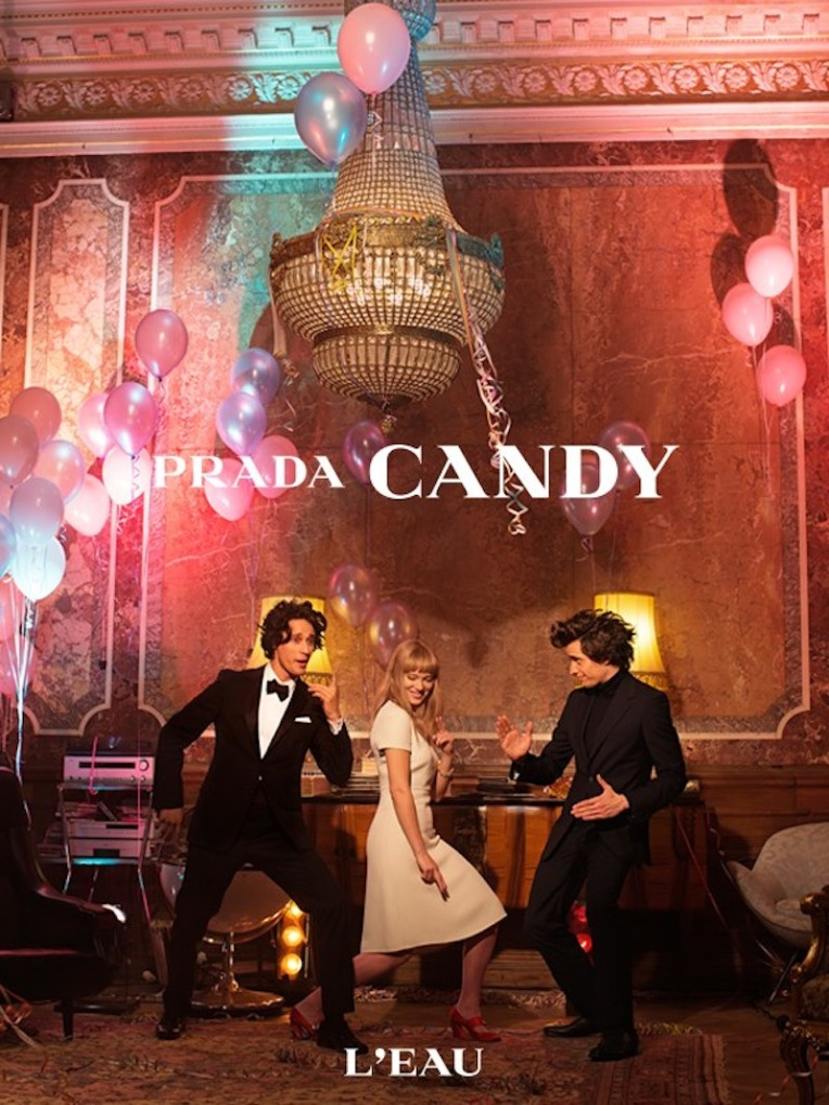Candy By Wes Anderson and Roman Coppola. Font: Prada