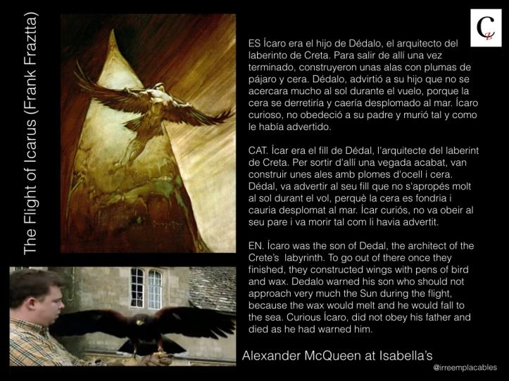 Alexander McQueen, Ícaro, Águila, eagle