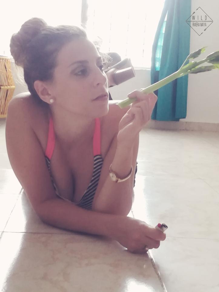 smoking celery
